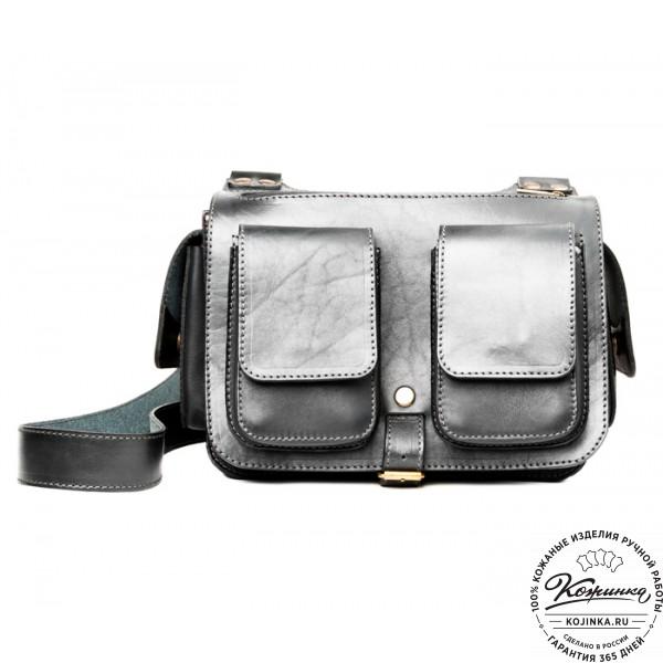 """Кожаная сумка """"Франциско"""" (черная). фото 1"""
