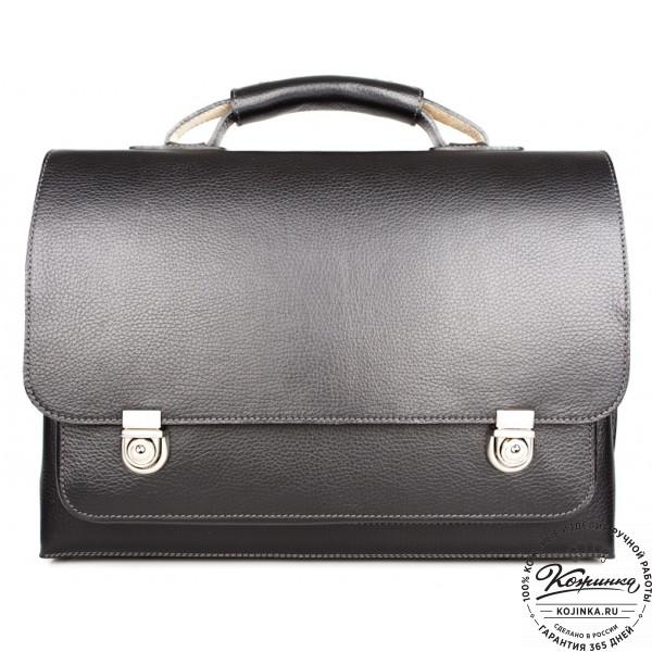 """Кожаный портфель ручной работы """"Марсель"""" (чёрный). фото 1"""