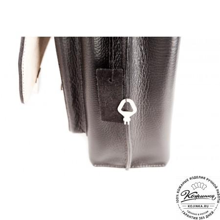 """Кожаный портфель ручной работы """"Марсель"""" (чёрный) - 9"""