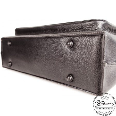 """Кожаный портфель ручной работы """"Марсель"""" (чёрный) - 8"""