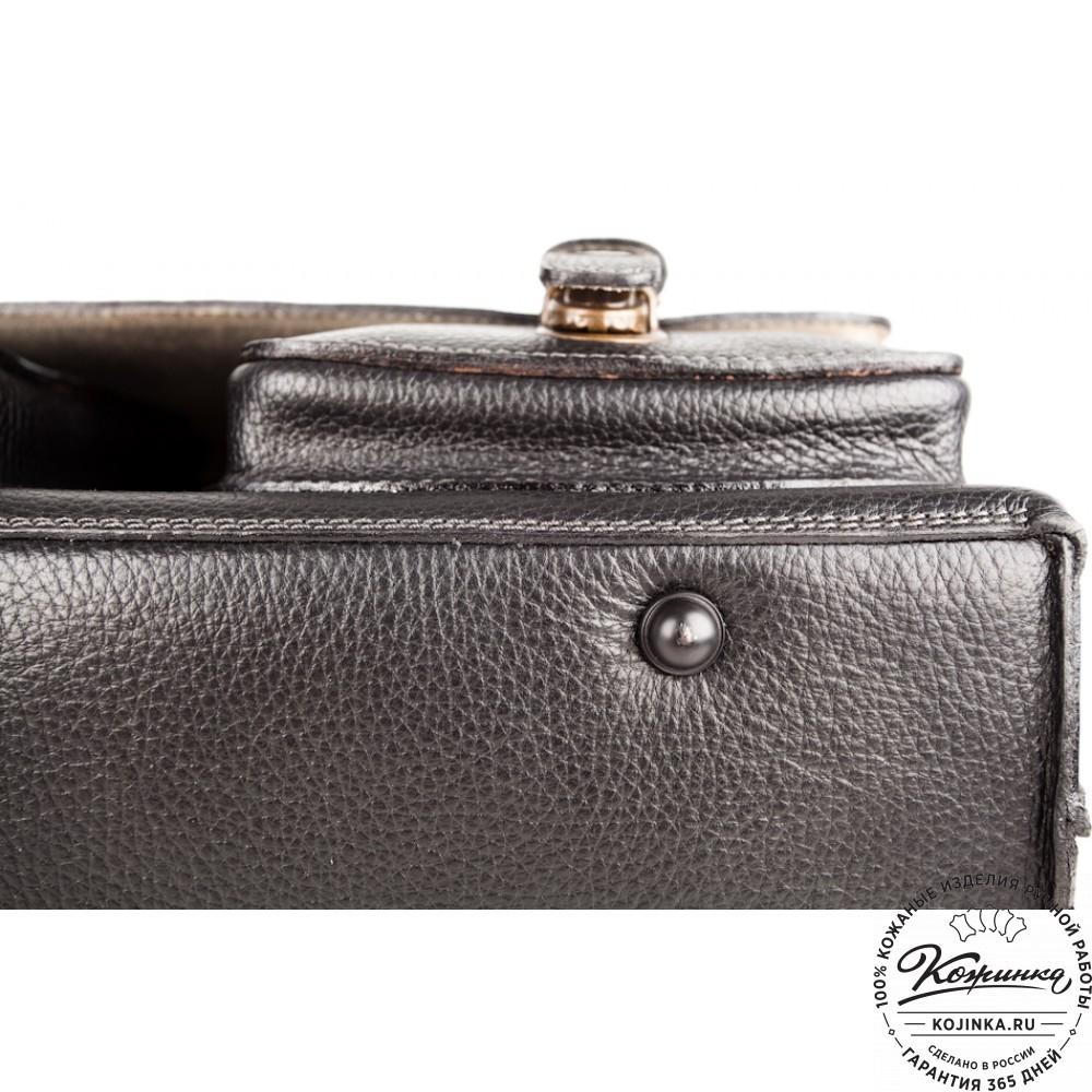 """Кожаный портфель ручной работы """"Рональд"""" (чёрный)"""