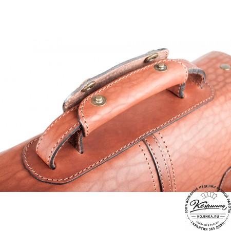 """Кожаный портфель ручной работы """"Уран II"""" (коричневый) - 9"""