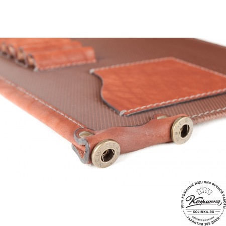 """Кожаный портфель ручной работы """"Уран II"""" (коричневый) - 6"""