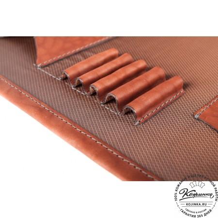 """Кожаный портфель ручной работы """"Уран II"""" (коричневый) - 10"""