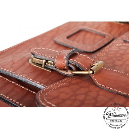 """Кожаный портфель ручной работы """"Уран II"""" (коричневый) - 13"""