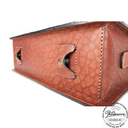 """Кожаный портфель ручной работы """"Уран II"""" (коричневый) - 4"""
