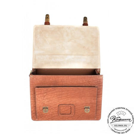 """Кожаный портфель ручной работы """"Уран II"""" (коричневый) - 2"""