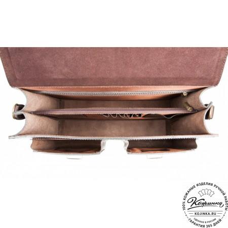 """Кожаный портфель ручной работы """"Коммерсант"""" (коричневый) - 2"""