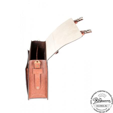 """Кожаный портфель ручной работы """"Уран II"""" (коричневый) - 5"""