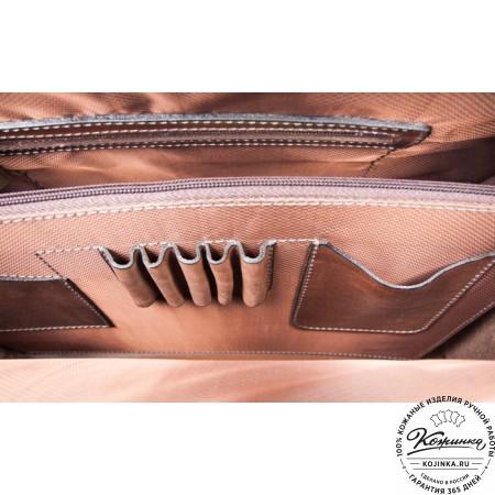 """Кожаная сумка """"Деметра"""" (коричневая) - 2"""
