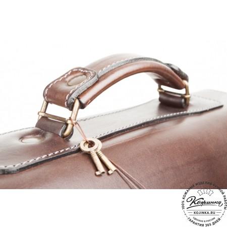"""Кожаный портфель ручной работы """"Коммерсант"""" (коричневый) - 3"""
