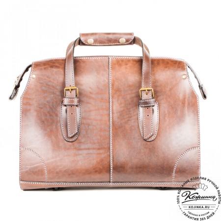 """Кожаная сумка """"Деметра"""" (коричневая) - 3"""