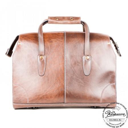 """Кожаная сумка """"Деметра"""" (коричневая) - 4"""