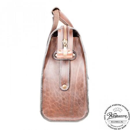 """Кожаная сумка """"Деметра"""" (коричневая) - 5"""