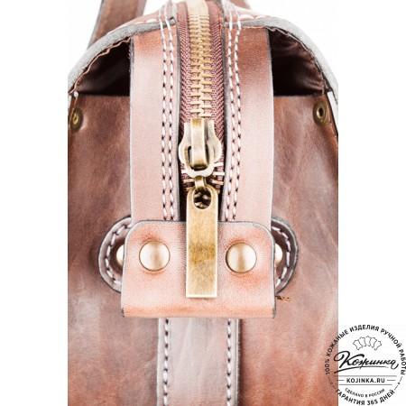 """Кожаная сумка """"Деметра"""" (коричневая) - 6"""