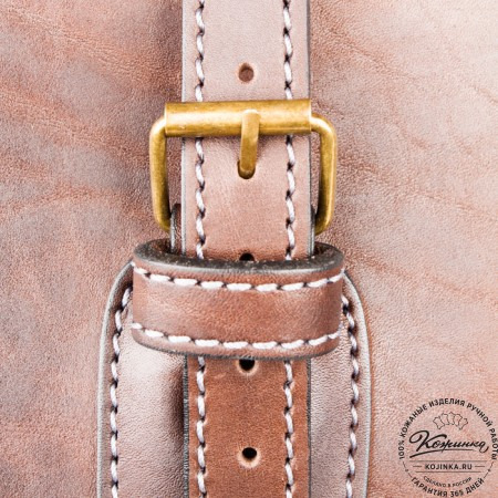 """Кожаная сумка """"Деметра"""" (коричневая) - 7"""