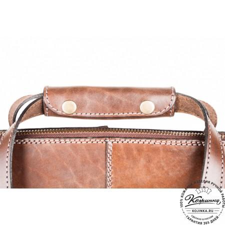 """Кожаная сумка """"Деметра"""" (коричневая) - 8"""