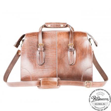 """Кожаная сумка """"Деметра"""" (коричневая) - 9"""