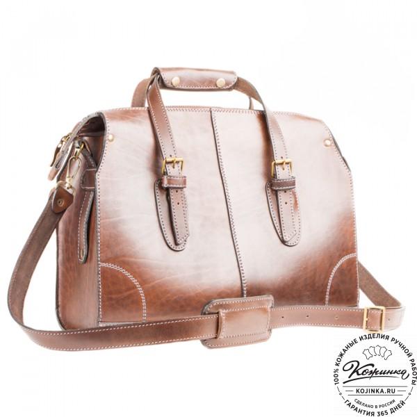"""Кожаная сумка """"Деметра"""" (коричневая). фото 1"""