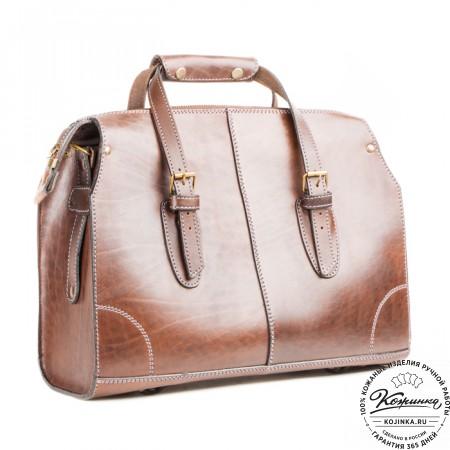 """Кожаная сумка """"Деметра"""" (коричневая)"""