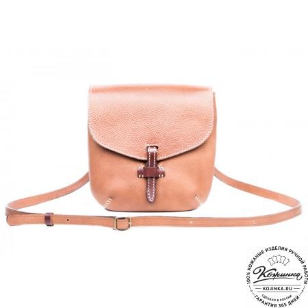 """Кожаная сумочка """"Пола"""" (коричневая) - 8"""