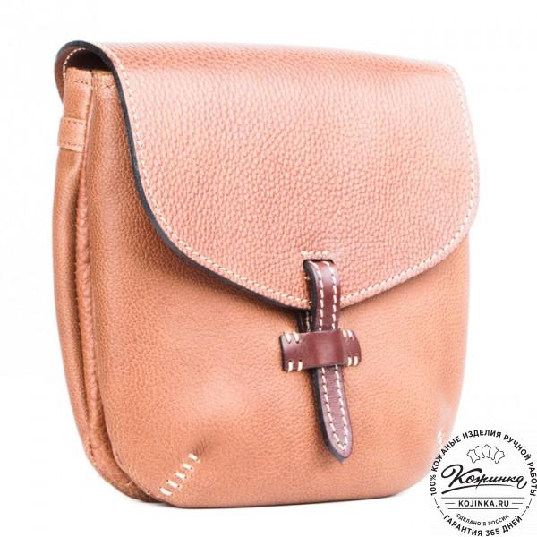 """Кожаная сумочка """"Пола"""" (коричневая). фото 1"""