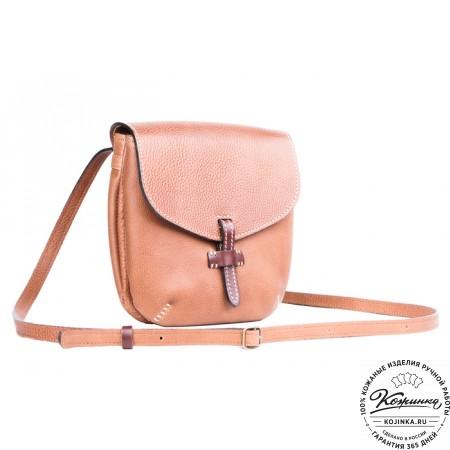 """Кожаная сумочка """"Пола"""" (коричневая) - 5"""