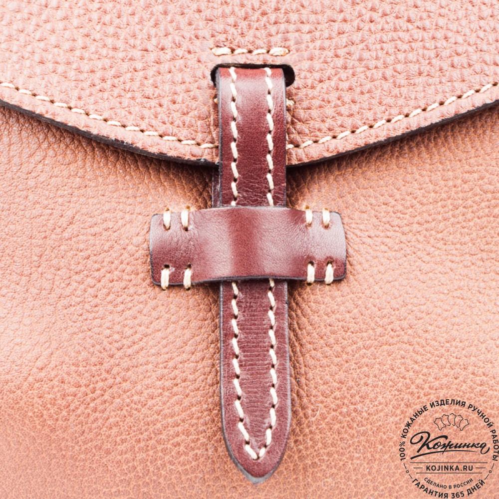"""Кожаная сумочка """"Пола"""" (коричневая)"""