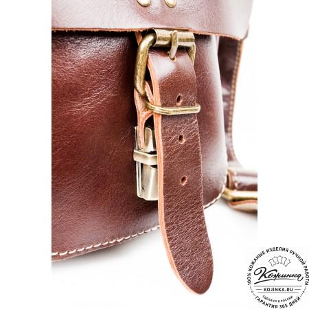"""Кожаная сумка  """"Денди"""" (темно-коричневая)"""