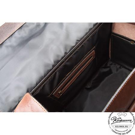 """Кожаный Портфель-Кофр ручной работы""""Титан 2"""" (коричневый)"""
