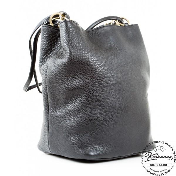 """Кожаная сумка """"Хлоя"""" (черная). фото 1"""