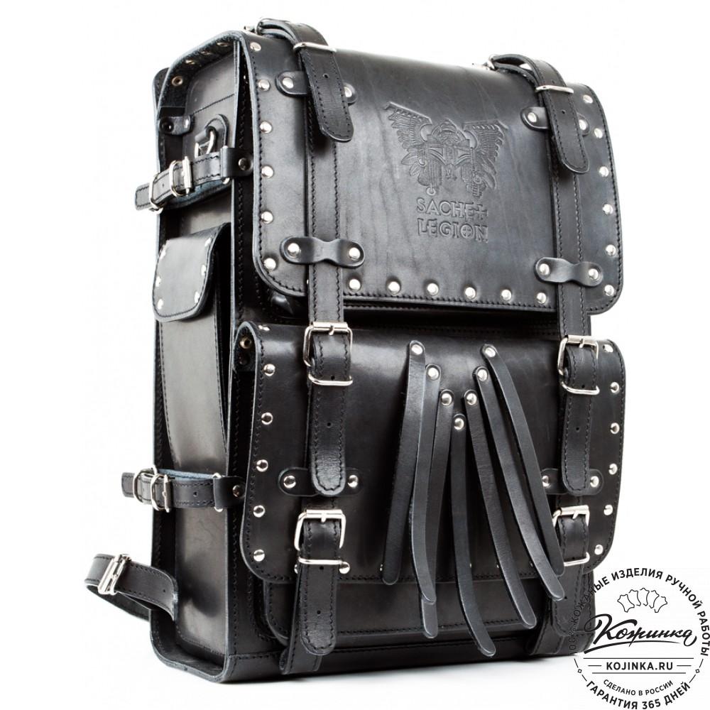 Мужской кожаный рюкзак легион рюкзак bask aggressor 45