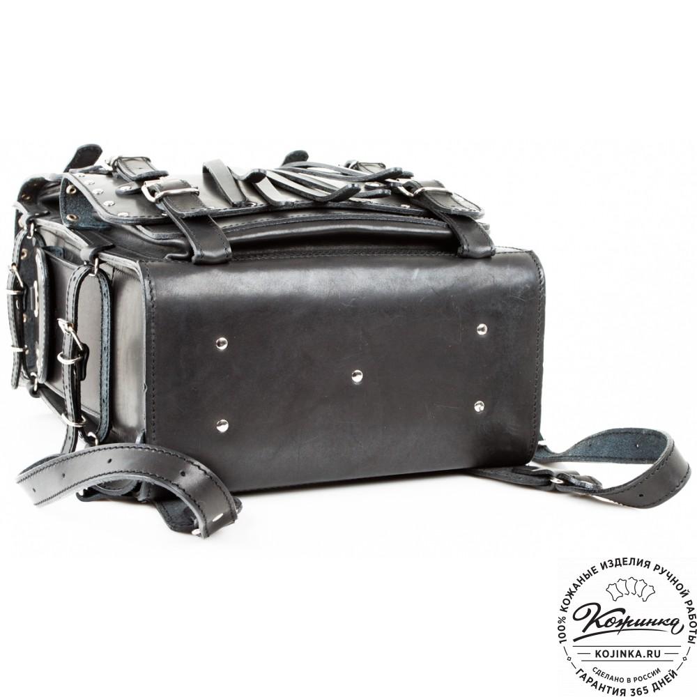"""Мужской кожаный рюкзак """"Легион-Харлей"""" (черный)"""