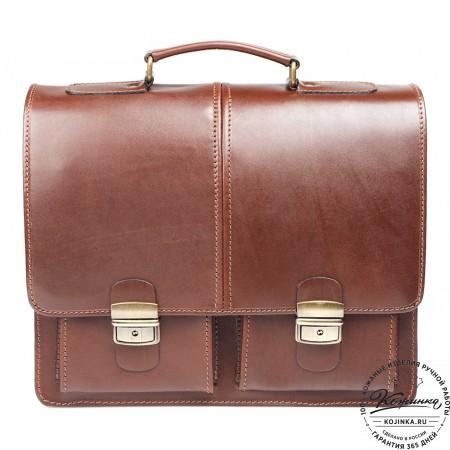 """Кожаный деловой портфель """"Адвокат-1"""" (коричневый) - 15"""