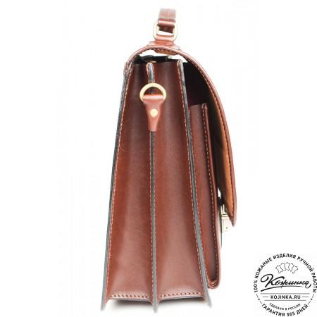 """Кожаный деловой портфель """"Адвокат-1"""" (коричневый) - 14"""