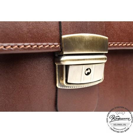 """Кожаный деловой портфель """"Адвокат-1"""" (коричневый) - 12"""