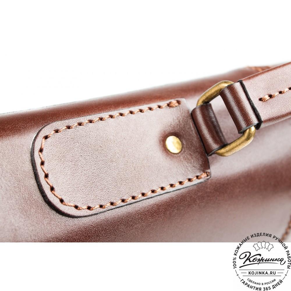"""Кожаный деловой портфель """"Адвокат-1"""" (коричневый)"""