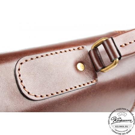 """Кожаный деловой портфель """"Адвокат-1"""" (коричневый) - 11"""