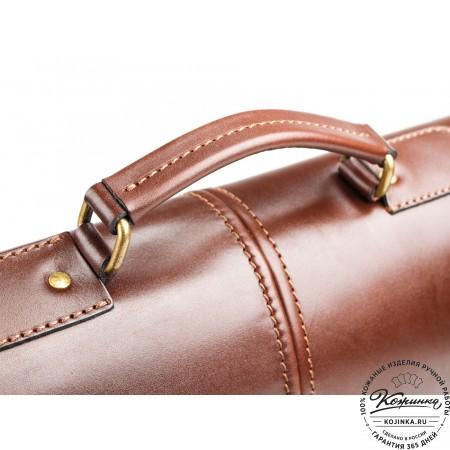 """Кожаный деловой портфель """"Адвокат-1"""" (коричневый) - 10"""