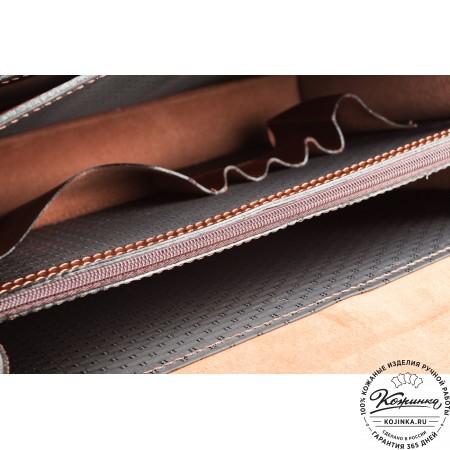 """Кожаный деловой портфель """"Адвокат-1"""" (коричневый) - 8"""