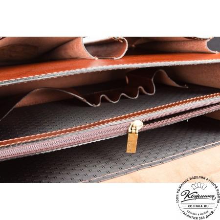 """Кожаный деловой портфель """"Адвокат-1"""" (коричневый) - 13"""