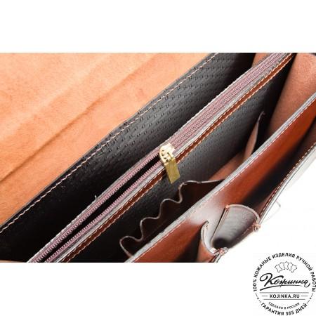 """Кожаный деловой портфель """"Адвокат-1"""" (коричневый) - 16"""