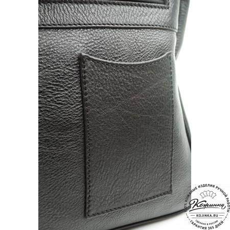 """Мужской кожаный портфель """"Оксфорд"""" (чёрный)"""