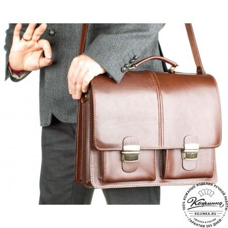 """Кожаный деловой портфель """"Адвокат-1"""" (коричневый) - 17"""