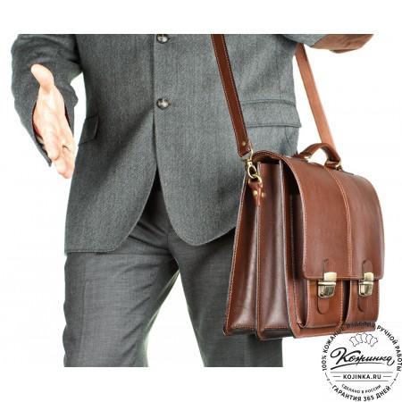 """Кожаный деловой портфель """"Адвокат-1"""" (коричневый) - 5"""