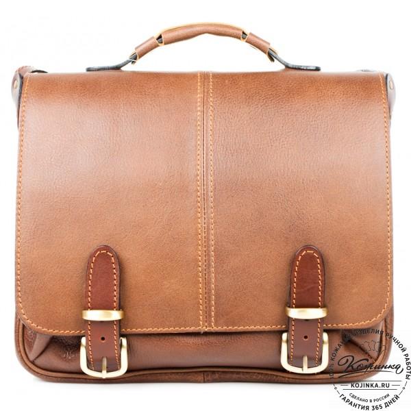 """Кожаный портфель """"Сорбонна"""" (светло-коричневый). фото 1"""