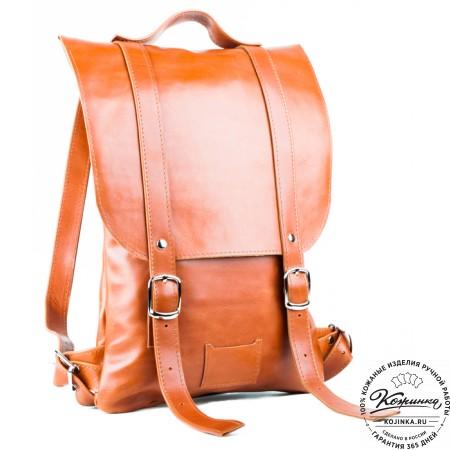 Кожаный рюкзак Тереза малый (коричневый) - 4