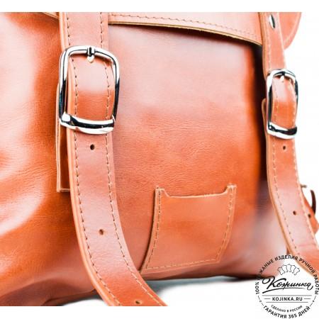 Кожаный рюкзак Тереза малый (коричневый) - 5