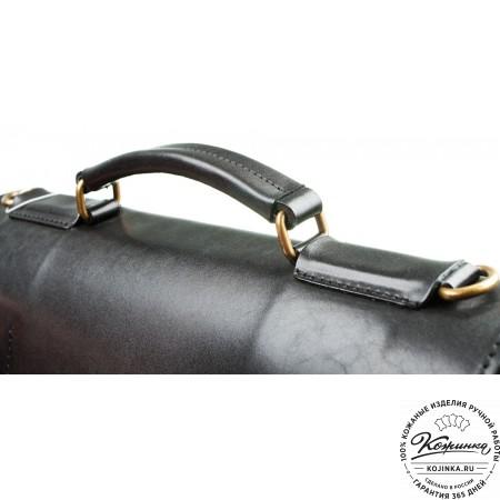 """Мужской кожаный портфель """"Престиж"""" (чёрный)"""