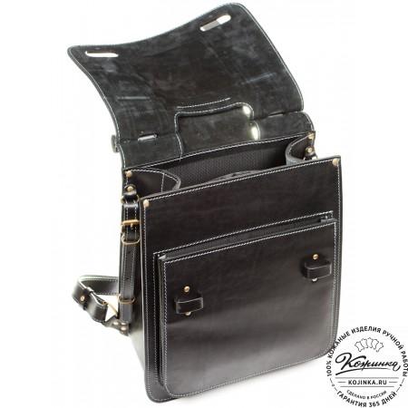 """Стильный кожаный рюкзак """"Кельт"""" (чёрный)"""